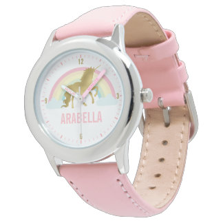 Whimsical Gold Unicorn Girl's Watch