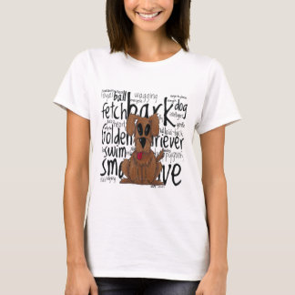 Whimsical Golden Retriever T-Shirt