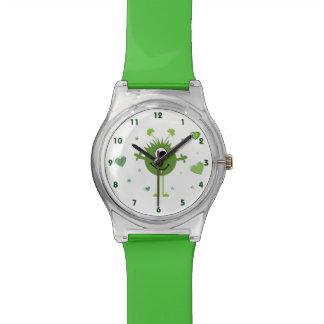 Whimsical Green Alien Monster St. Patrick's Day Watch