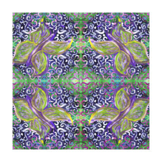 whimsical green and purple butterfly canvas print
