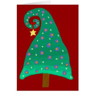 Whimsical Green Christmas Tree Card