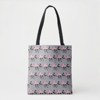 Whimsical Grey Tabby Tote Bag