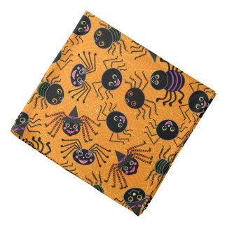 Whimsical Halloween Spiders Bandana