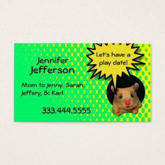 Whimsical Hamster Custom Mommy Card