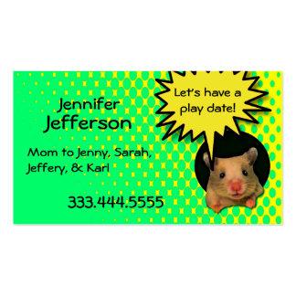 Whimsical Hamster Custom Mommy Card Business Card Templates