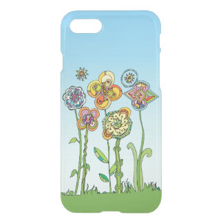 Whimsical, hand drawn flowers iPhone 7 case