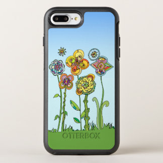 Whimsical, hand drawn flowers OtterBox symmetry iPhone 8 plus/7 plus case