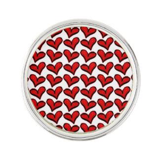 Whimsical Holiday Hearts Lapel Pin