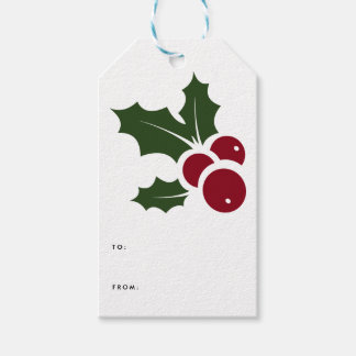 Whimsical Holly | Holiday Gift Tags