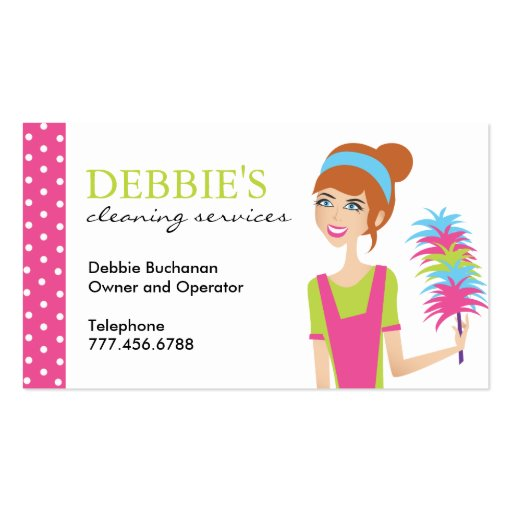 Whimsical House Cleaning Services Business Cards Zazzle
