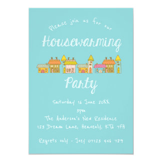 Whimsical Houses Housewarming Party Invite
