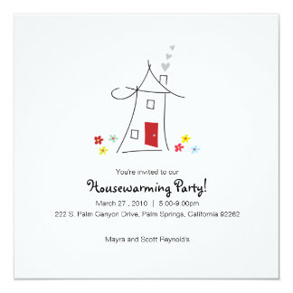 Whimsical Housewarming Party Card