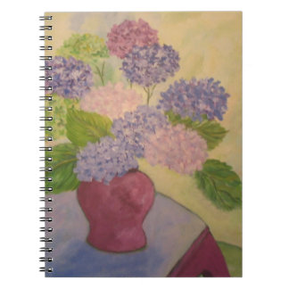 Whimsical Hydrangea Notebook