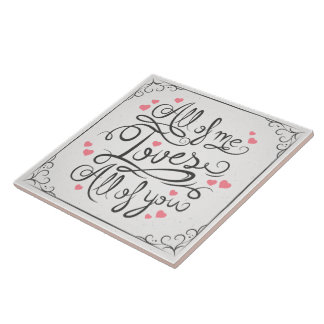 Whimsical Inspirational Love Quote | Ceramic Tiles