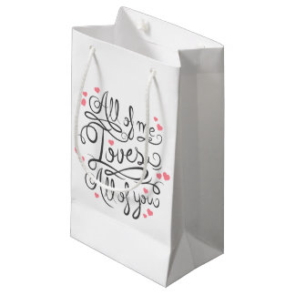 Whimsical Inspirational Love Quote | Gift Bag
