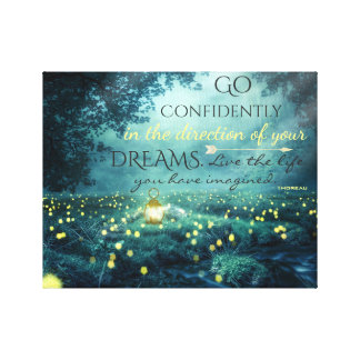 Whimsical Inspiring Dreams Quote Canvas Print