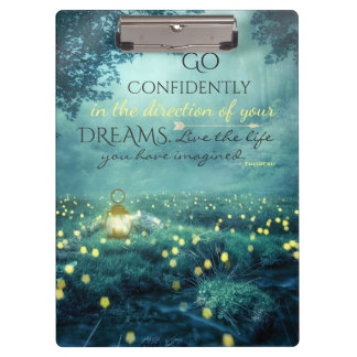 Whimsical Inspiring Dreams Quote Clipboard