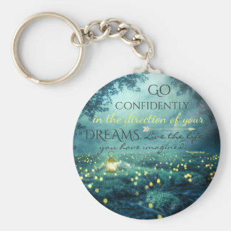 Whimsical Inspiring Dreams Quote Keychain