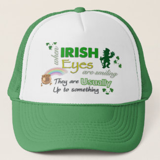 Whimsical Irish Eyes St Patricks Hat