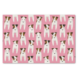 whimsical Jack Russell Terriers patterned Tissue Paper