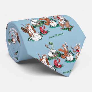 Whimsical Jammin Banjos Musical Tie