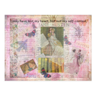 whimsical Jane Austen LOVE quote from Emma Postcard