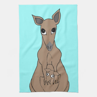 whimsical kangaroo towels