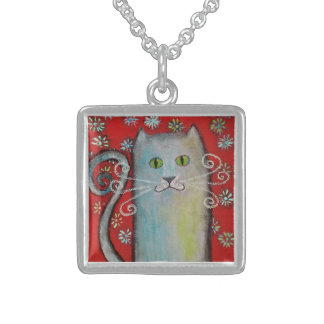 Whimsical Kitty-Cat Lovers Necklace