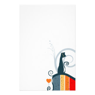 Whimsical Kitty Stationery