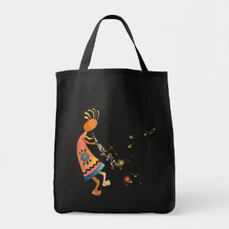 Whimsical Kokopelli Tote Bag