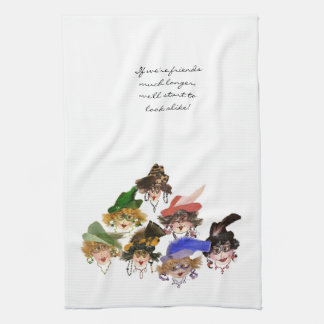 Whimsical Ladies Kitchen Towel