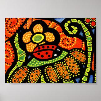 Whimsical Ladybug Poster