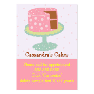 Whimsical Layer Cake Pink and Green Large Business Card