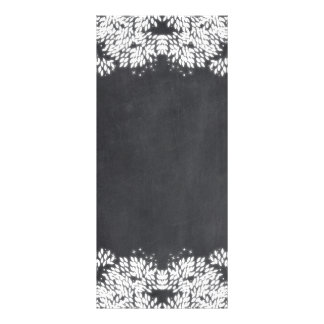 Whimsical Leaves and Stars on Chalkboard Rack Card