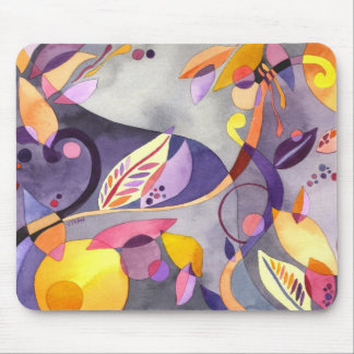 Whimsical Leaves Mouse Pad