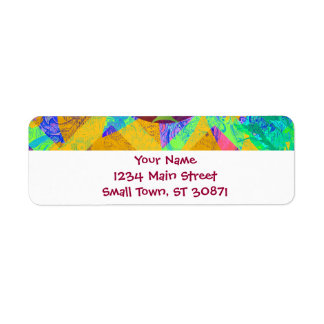 Whimsical Lollipop Candy Tree Colorful Abstract Return Address Label