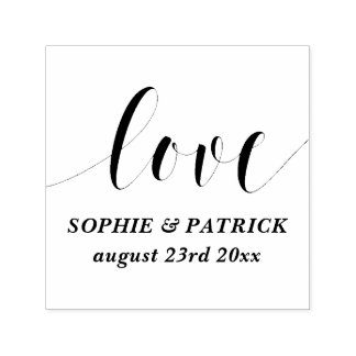 Whimsical Love Script Save the Date Self-inking Stamp