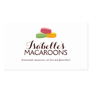 Whimsical Macaroons Bakery Business Card Business Card