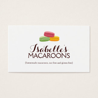 Whimsical Macaroons Bakery Business Card