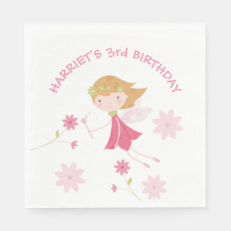 Whimsical Magical Fairy Birthday Paper Napkin