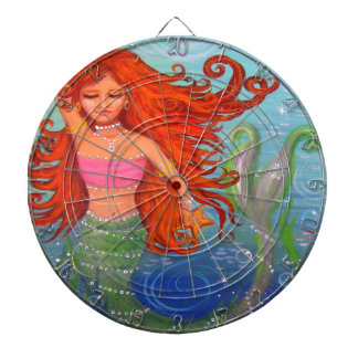 Whimsical Mermaid Dartboard