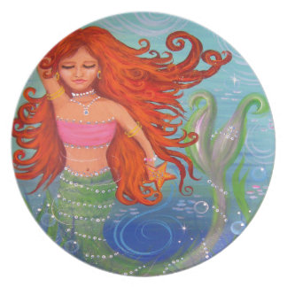 Whimsical Mermaid Party Plates