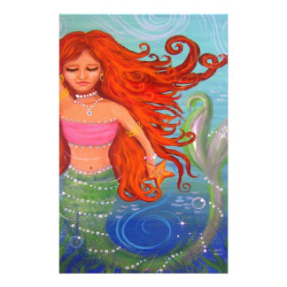 Whimsical Mermaid Stationery