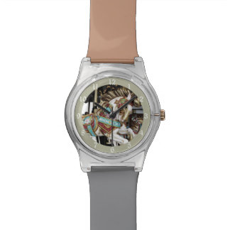 Whimsical Merry Go Round Carousel Horse Watches