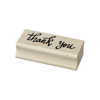 Whimsical Modern Wedding Thank You Typography Rubber Stamp