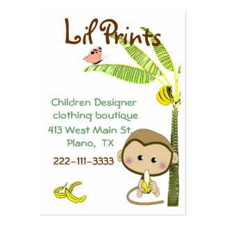 Whimsical Monkey Boutique Business Card Tag