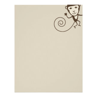 Whimsical Monkey Letterhead