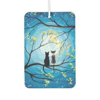Whimsical Moon with Cats Air Freshener
