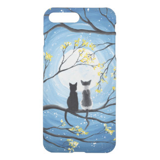Whimsical Moon with Cats iPhone 8 Plus/7 Plus Case