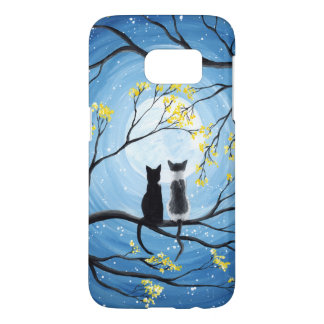 Whimsical Moon with Cats Samsung Galaxy S7 Case